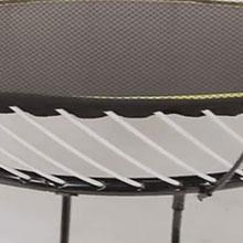 Hidden trampoline frame