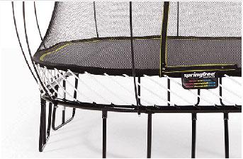 Hidden frame of springfree trampoline
